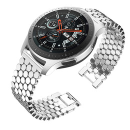 $enCountryForm.capitalKeyWord Australia - Stainless Steel Band for Samsung Galaxy Watch 46m Samsung Gear S3 Frontier Classic Wristband22mm Quick Release Strap