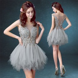 prom dancing dress Canada - A-Line Summer New Banquet Short Poncho Skirt Lace Party Cocktail Dress Dew Deep V Back School Dance Prom Dresses DH1804