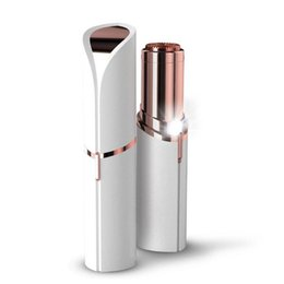 Chinese  New released Lipstick Facial Hair Remover Face Hair Removal Epilator Painless 18K Gold Plated Remover OPP bag without battery DHL free ship manufacturers