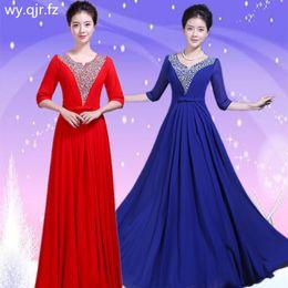 $enCountryForm.capitalKeyWord Australia - PTH-WSY#Chiffon Set auger Blue Rrd Long Bridesmaid Dresses Chorus Costume Bohemia Party Dress Prom Gown wholesale women