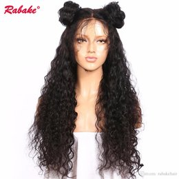 Afro Kinky Human Hair Wigs Australia - Curly Full Lace Human Hair Wigs Rabake Afro Kinky Curly Full Lace Wig Wet and Wavy Perruques De Cheveux Humains for Black Women