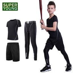 1061e624f Compression Men's Sports Jogging Suits Kids Boys Running Tights Outdoor  Clothes Children Training Gym Fitness Wear Clothing Sets