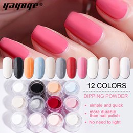 Art Naturals Australia - Yayoge Dipping Powder Gradient French Nail Natural Color Holographic Glitter Without Lamp Cure Nail Art Decorations