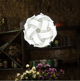 $enCountryForm.capitalKeyWord Australia - DIY Modern Ball Novelty IQ Jigsaw Lamp Puzzles Pendant Light + Power Cord and E27 Holder,Dia.25cm 30cm 40cm free shipping - Le14