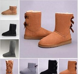 $enCountryForm.capitalKeyWord Australia - Home> Shoes & Accessories> Boots> Product detail 2019 Snow Winter Leather Women Australia Classic kneel half Boots Ankle boots Black Grey