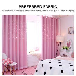 "$enCountryForm.capitalKeyWord NZ - Blackout Curtains Star Shape Hollow Double Layer Cloth Yarn Combination Thermal Insulating Room Darkening Curtains 39""X98"""