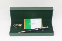 $enCountryForm.capitalKeyWord Australia - High quality RX brand Ballpoint pen Black color with Rose Gold trim stationary supplies for best gifts