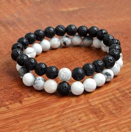 56ff7a6700a7 Mujeres de los hombres de Lava Natural Perlas de Roca Chakra Pulseras  Curación Energía Piedra Meditación Mala Pulsera Moda Aceite Esencial Difusor  joyería