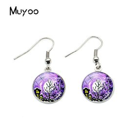 $enCountryForm.capitalKeyWord Australia - 2019 New Design Art Paintings Glass Cabochon Earrings For Fashion Women Art Flower Photo Hook Earring Handmade Silver Jewelry