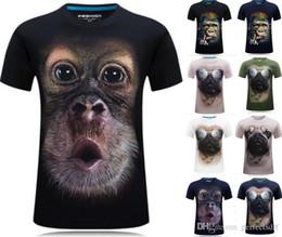 $enCountryForm.capitalKeyWord Australia - 2000# 12 Colour S-6XL 3D Gorilla Monkey Funny Printed Tee Cotton Mens T-Shirts Short Sleeve Top Shirt