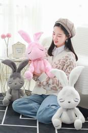 $enCountryForm.capitalKeyWord Australia - Beautiful Rabbit Plush Toys Soft Cartoon Animal Bunny Stuffed Doll Baby Sleeping Accompany Toy House Decoration Doll Kids Gifts