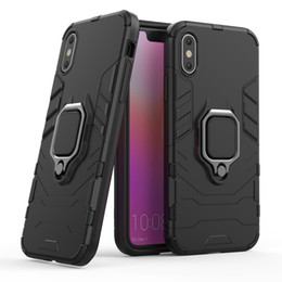 Iphone Car Suction Australia - For Iphone 8 7 6 5 Plus X XS MAX XR TPU PC Car Holder Stand Magnetic Suction Bracket Finger Ring Shockproof Phone Case