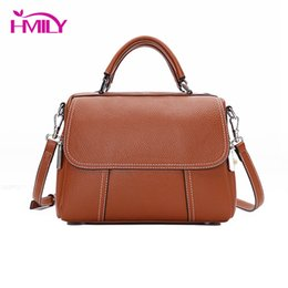 Cowskin Handbags Australia - HMILY Fashion Girls Handbags Genuine Leather Female Shoulder Bag Classic Style Bolsa Feminina Women Handbag Cowskin Women Bags