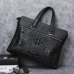 leather document shoulder bags Australia - Fashion2019 Affairs Tidal Leisure Time Genuine Head Layer Cowhide Male Package Handbag Soft Leather Man Single Shoulder Messenger Document