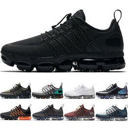 Wholesale medium arts resale online - Run Utility Men Women Running Shoes Triple Black Laser Fuchsia Medium Olive Burgundy Crush CNY Discount designer Trainer Sport Sneakers