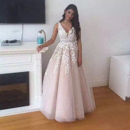 Puffy Lace Prom Dresses V neck Floor Length Lebanon Long Elegant Evening  Dress Custom Made Real Photos Sexy Party Gowns 03b7a8c4e4b1