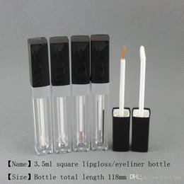 gel gloss wholesalers Australia - 3.5ml Square shape lip gloss eyeliner oil case lip gel bottle container empty pakcage Free shipping moq 250pcs