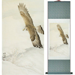 Framed Eagle Painting Australia - Eagle Painting Home Office Decoration Chinese Scroll Painting Eagle On Pine Tree Painting Eagle Picture Scgs120321