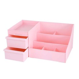 Drawer Storage Box Jewelry Australia - Large Capacity Plastic Cosmetic Storage Box Drawer Jewelry Box Desktop Sundries Storage Container Makeup Organizer Dropshipping