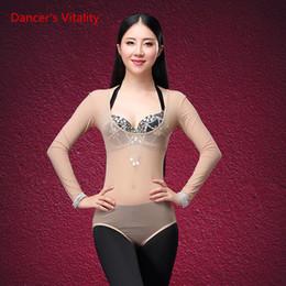 $enCountryForm.capitalKeyWord Australia - One Detail Swimsuit Dancewear Long Sleeve Belly Dancing Intimate Accessories For Women Bodysuit Shirt Belly Dance Tops
