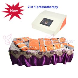 $enCountryForm.capitalKeyWord NZ - 2 in 1 Infrared light air pressure pressotherapy Lymph Drainage Pressotherapy Heated Slimming Blanket Suit Weight Reduce Machine