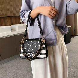 $enCountryForm.capitalKeyWord Australia - Stone Pattern PU Leather Crossbody Bags For Women Thick Chain Design Shoulder Messenger Bag Lipstick Handbags Women' Bags