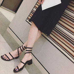 Sexy girlS black tieS online shopping - XingDeng Girl Ankle Strap Lace Up Dress Sandal Shoes Summer Women Sexy Party Wedding Rhinestone Winding High Heels Sandals Shoes