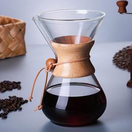 Glass dripper online shopping - 1PC ml Glass Coffee Pot Dripper Moka Tea Maker Percolator Barista Tools Espresso Manual Kettle Teapot With Stainless Steel