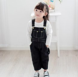 overall jumpsuits baby jeans Australia - 2019 Fashion Girl's Clothes Jumpsuit For Spring Autumn Children Denim Overalls Baby Girl Cotton Jeans Kids Bib Pants Ws393