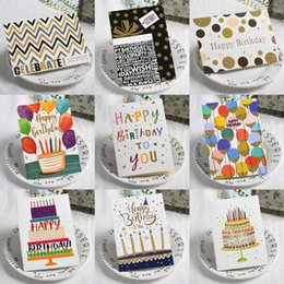 Wholesale Kids Happy Birthday Cards with Envelopes Birthday Party Decorations Adult Business Cards