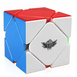 boy toy puzzle NZ - IQ-Cubes Cyclone Boys Magnetic Skewb Cube Stickerless Skewb Speed Cube Magic Cube Puzzle Toy Y200428