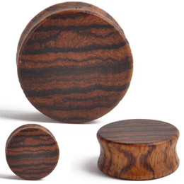 tunnels plug 8mm Australia - 2pcs Punk Wood Ear Plugs Gauges Tunnel Wooden Ear Expander Double Flared Saddle for Fashion Body Piercing Jewelry 8mm-30mm