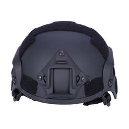 Discount mount helmet - Riding Mili tary Hunting Combat Paintball ABS Helmet with Mount Rail