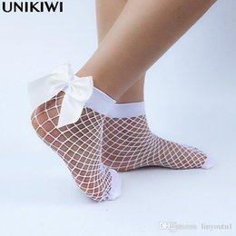 Ladies fishnet socks online shopping - Chic Women s Harajuku Breathable White Bow knot Fishnet Socks Sexy Hollow out Mesh Nets Socks Ladies Girl s Lolita Style Bow Sox