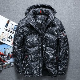$enCountryForm.capitalKeyWord NZ - 2018 autumn and winter Outdoor new print Camouflage casual clothing thicken hooded men short White duck down jacket black