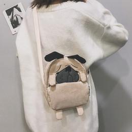 $enCountryForm.capitalKeyWord NZ - Japanese Cute Cartoon Animals Tote Bag For Women Travel Daypack Shopping Child Bag Funny Dog Corduroy Shoulder Crossbody Dog