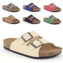 $enCountryForm.capitalKeyWord Australia - Kids Sandals for Baby Girls Leisure Beach Sandals Kids Cork Shoes Non-slip Rubber Sole Breathable Leather Slides for Children
