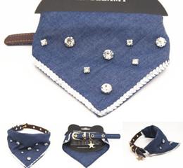Cartoon Towel Dog Australia - Cowboy Star Drill Water Towel Draws Pet Necklace Dog Triangle Towel