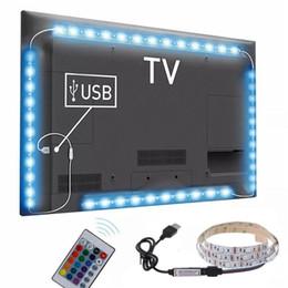 Wholesale Hot 3 Sizes RGB LED Wireless Remote Control Neon Interior Light Lamp Strip Lights Car Decor