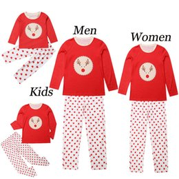matching outfits for father daughter NZ - 2020 Christmas Family Matching Clothes For Family Pajamas Clothing Set Father Son Nightwear Mother Daughter Clothes Xmas Outfits