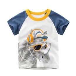 $enCountryForm.capitalKeyWord Australia - Kids Boys Summer Lovely Toddler T-shirt Short Sleeve Child Cartoon Animal Print O-Neck Cotton Top Tees New