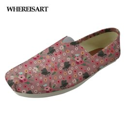 Printed Canvas Shoes For Ladies Australia - WHEREISART Flower Piano Print Casual Women's Loafers Flats Student Super Light Cloth Shoes for Ladies Breathable Lovers Lazy