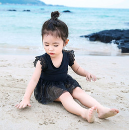 one piece toddler swimwear Australia - New Baby Girls Lace Swimwear Sweet Summer Children Toddler Tulle Tutu Dress Beach bathing suit Kids One-piece swimsuit Y2646