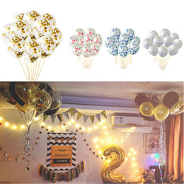clear baby 2019 - Clear Confetti Airballoon Latex Balloons Lovely Party Decoration Baby Birthday Wedding Party Balloon 50pcs per lot cheap