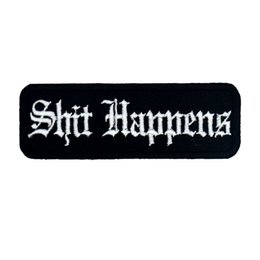 $enCountryForm.capitalKeyWord Australia - ST HAPPENS name tags patch embroidered iron on backing for jacket jeans bags vest 10 PCS  LOTT