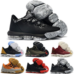 Lebron shoes size online shopping - New mens Lebrons XVI low basketball shoes for sale retro BHM Oreo lebron james sneakers size