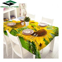 $enCountryForm.capitalKeyWord NZ - GOANG table cloth 3d digital printing sunflower pattern waterproof tablecloth rectangular and round wedding table covers