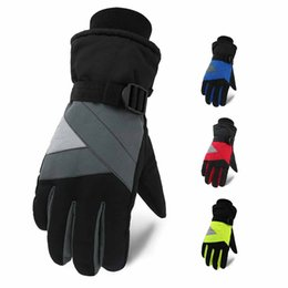 Snow bicycle online shopping - Winter Ski Gloves Anti slip Palm Thermal Windproof Water Resistant Sports Snow Mittens Bicycle Snowboard Bicycle Sports Gloves