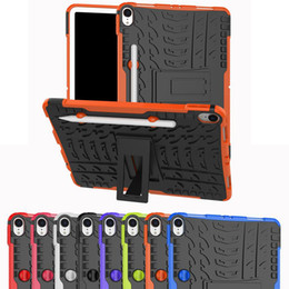 fashion tablet NZ - Case For IPAD MINI 1 2 3 4 IPAD air 2017 PRO 10.8 air9.7 Cover Heavy Duty 2 in 1 Hybrid Rugged Durable Tablet Stand Shell for IPAD PRO 11