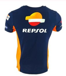 Discount motorcycle repsol - Motorcycle Motorbike motocross T-shirt Riding Breathable for Repsol Gas Moto Gp Team T-shirts ice cold feel